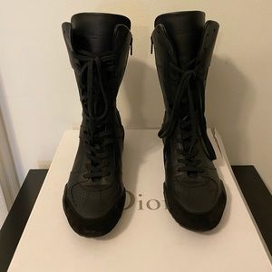 Dior Perforated D Fence High Top Sneakers